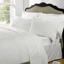highams 100 egyptian cotton plain dyed bedding set white image 1