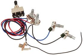 amazon com kmise wiring harness prewired 2v2t 3way toggle switch electric guitar wiring harness at Guitar Wiring Harness