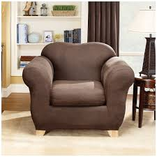 Amazon Com Sure Fit Stretch Leather 2 Piece Chair Slipcover