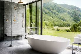 the master bath s shower and agape tub are equipped with dornbracht fittings