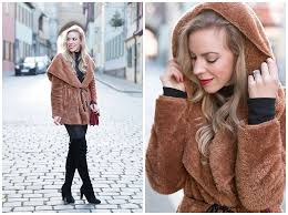 estee lauder irrepressible deep red lipstick hooded brown faux fur coat faux fur short coat with leather pants how to wear hooded faux fur jacket