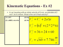 kinematic equations the physics classroom