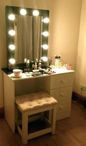 lighting for vanity makeup table. Vanity Table With Lighted Mirror Sets Lights Makeup Lighting For