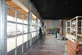 Brilliant Commercial Garage Door Restaurant Doors Full View Sectional Inside Creativity Design
