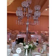wedding tall candelabra set of 10 wedding crystal acrylic globe candelabra 9 arms with dripping prism
