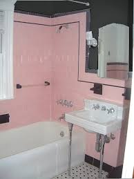 Retro Home Accents: What To Do With Pink And Black Bathroom Tile?   Ramshackle Glam