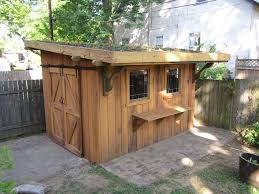 shed roof dog house plans