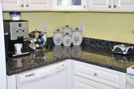 popular blue pearl granite countertop with off white cabinets