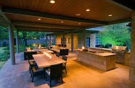 outdoor kitchen concrete night lighting bonick landscaping dallas tx