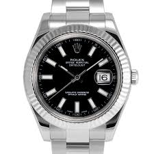 mens rolex datejust ii stainless steel black stick dial fluted mens rolex datejust ii stainless steel black stick dial fluted bezel oyster band