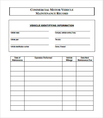 5 Vehicle Maintenance Log Templates Free Download