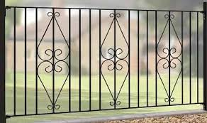 metal fence panels. Plain Metal Henley Wrought Iron Style Metal Garden Fence Panels Inside