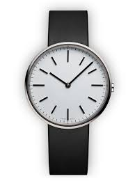 m37 two hand watch in polished steel black nappa leather m37 two hand watch in polished steel black nappa leather strap