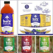 Kombucha Label Design Holy Kombucha Branding Product Label Design By Square 205