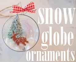 diy snow globe inspired ornaments