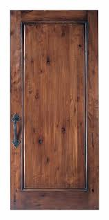 219 01 a custom wooden door alder distress antique old mexico finish