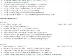 Waiter Resume Sample Mkma Best Waiter Resume