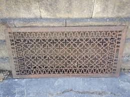 Decorative Metal Grates Victorian Cast Iron Floor Grille 38x19 Heat Grate Register Very