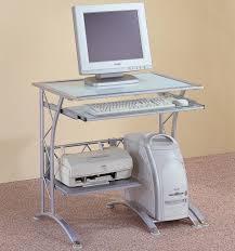 coaster contemporary computer workstation office desk table. Contemporary Computer Workstation In Silver Coaster Office Desk Table T