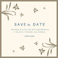 Save The Date For Wedding Cream And Blue Save The Date Wedding Invitation Templates