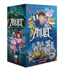 amulet 1 7 box set by kazu kibuishi 2018 10 25 kazu kibuishi 9780545830799 amazon books