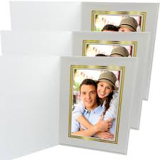 gala white with gold foil folders 5 x 7 25 pack