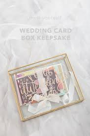 this diy glass wedding card box is gorgeous