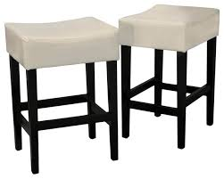 backless leather counter stool set of 2 contemporary bar stools and counter stools by ladder