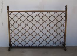custom made metal fireplace screen