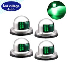 Portable Navigation Lights For Small Boats Amazon Com Ledvillage Pack Of 4 Green Super Bright 8 Led