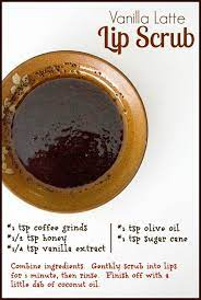 vanilla latte lip scrub homemade for elle