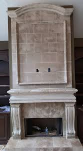 back 58 cast stone fireplace with overmantel