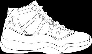 Colouring Pages Nike Air Max Air Jordan Coloring Book Shoe Drawing