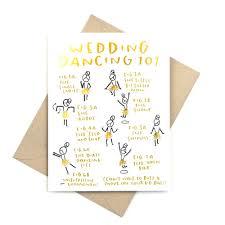 Funny Gold Foil Wedding Card Wedding Dancing 101