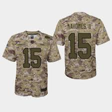 Chiefs Salute Service Mahomes To Patrick - Camo Ii 2018 Jersey Youth