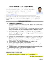 Page 1 of 3 AGUSTHIAKUMAR SUBRAMANIAN Position: Senior Mechanical Engineer  (Power Plants & Oil ...