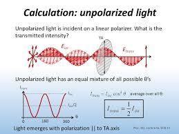 calculation unpolarized light