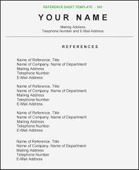 8 9 Sample Reference Page For Resumes Sacxtracom