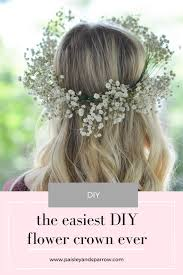 diy baby s breath flower crown a super simple diy tutorial for your next party