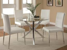 round glass top dining table set 4 chairs best gallery of tables coaster vance contemporary 5