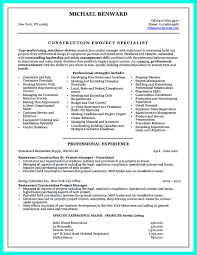 Resume Examples Construction Superintendent