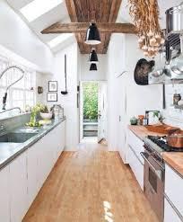 White Country Galley Kitchen Kitchen Design