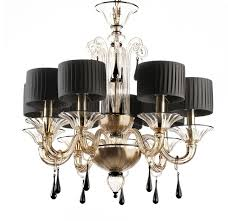 gold and black modern murano glass chandelier grimani regarding amazing residence gold glass chandelier decor