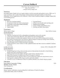 Teaching Resume Template Teacher Resume Examples Teacher Resume ...
