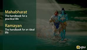 posters explain the essence of mahabharata and ra ana in six words 6the perfect essence of mahabharata and ra ana in six words