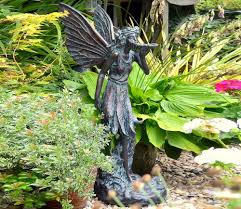 large standing fairy statue garden ornament