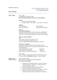 Sample Or Resume Good Science Resume Examples Resume Examples Templates Download For 59