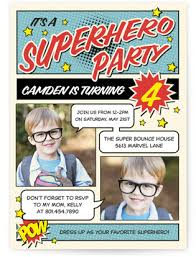 superheroes birthday party invitations superhero kids birthday invitations minted