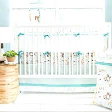forest crib bedding woodland friends collection teal and brown baby charlie brown crib bedding