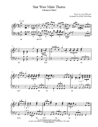 Easy jazz piano free sheet music midnight based on duke ellington's in a sentimental mood by jacob koller / the mad arranger download. Star Wars Main Theme By John Williams Piano Sheet Music Advanced Level